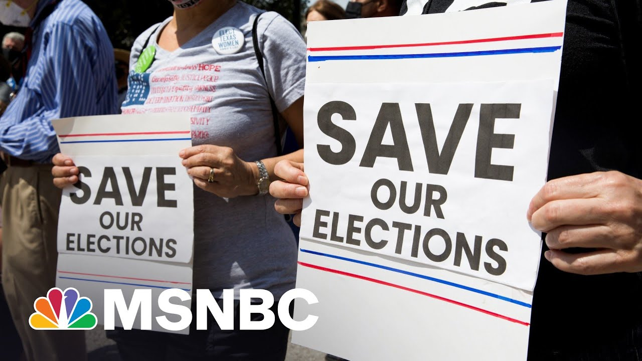 Democrats Add State-Level Republican Feedback To New Voting Rights Bill   Rachel Maddow 1