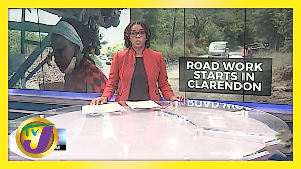 Road Work Starts in Clarendon, Jamaica | TVJ News - May 10 2021 1