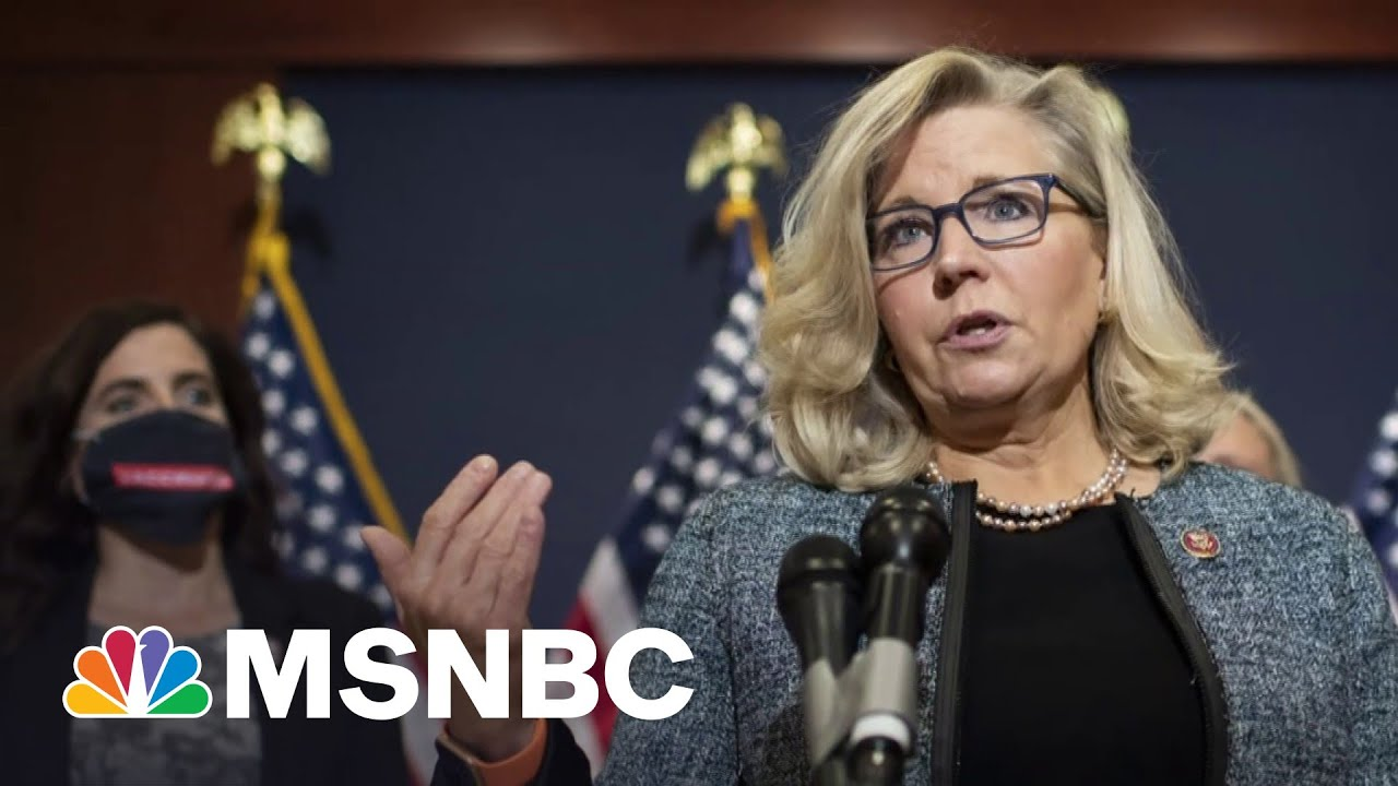 Rep. Liz Cheney Pushes Back On Trump's Election Lies, Creating GOP Rift | MTP Daily | MSNBC 1