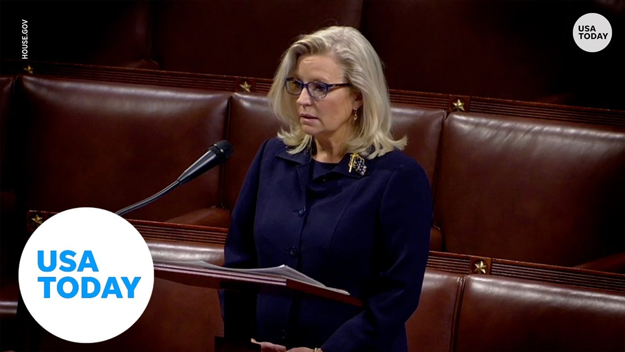 Rep. Liz Cheney gives passionate speech on House floor regarding Trump's influence | USA TODAY 1