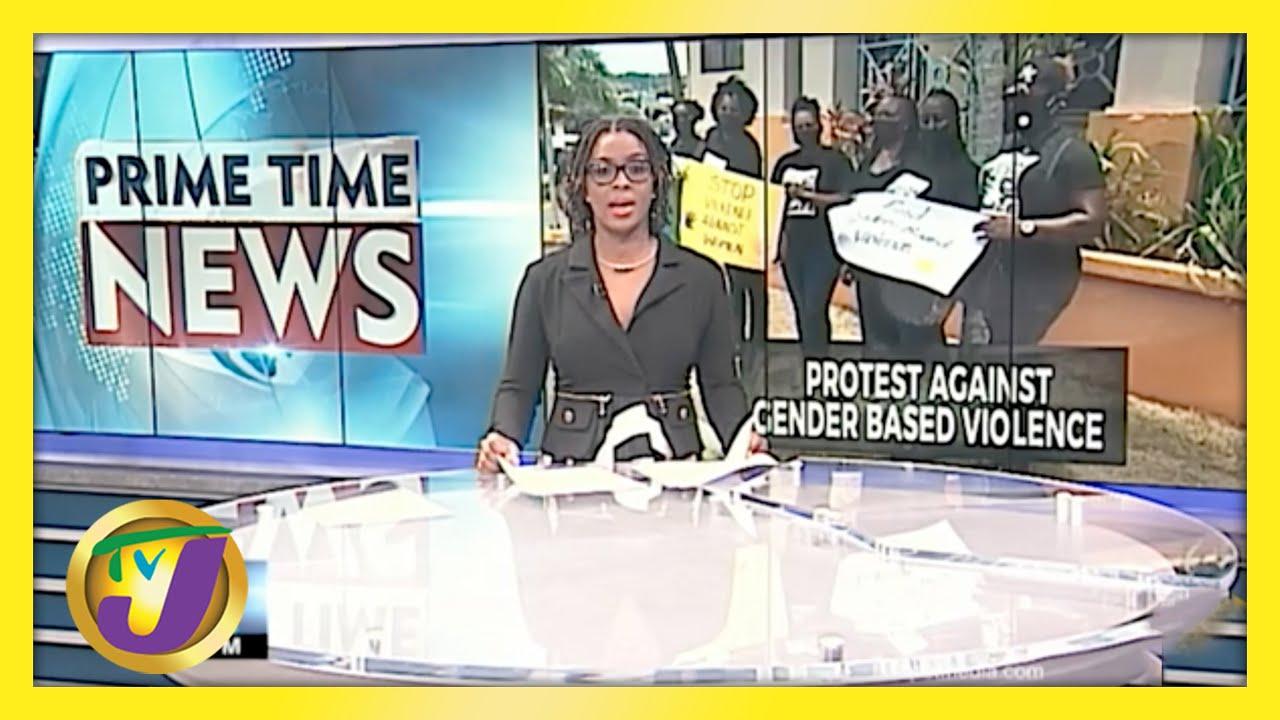 Jamaican PNP Group Protest Against Gender Based Violence | TVJ News - May 13 2021 1