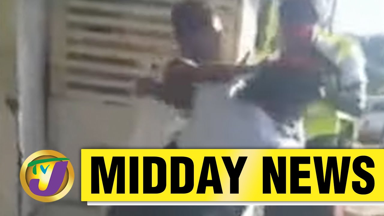 Chaos between Police & Citizens in Portland, Jamaica - May 14 2021 1