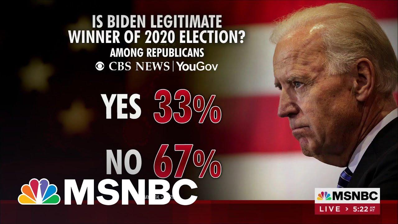 Most Republicans Don't Believe Biden Legitimate 2020 Winner: Polling 1