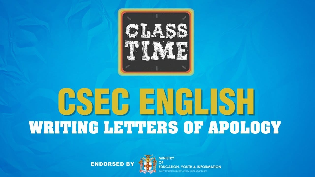 CSEC English | Writing Letters of Apology - May 27 2021 1