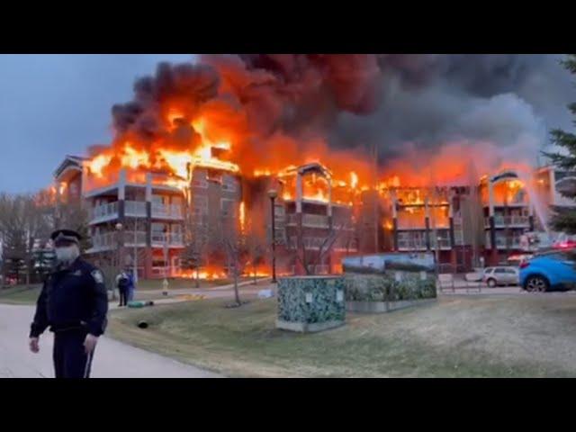 Massive fire engulfs seniors' home in Alberta 9