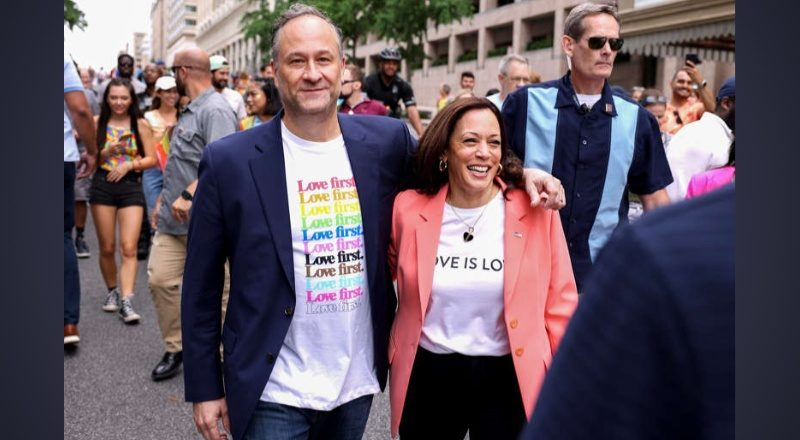 US Vice President Kamala Harris the 1st sitting VP to March in a Pride Event