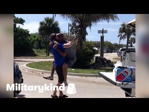 Man jumps into BFF's arms after 3 years apart | Humankind 4