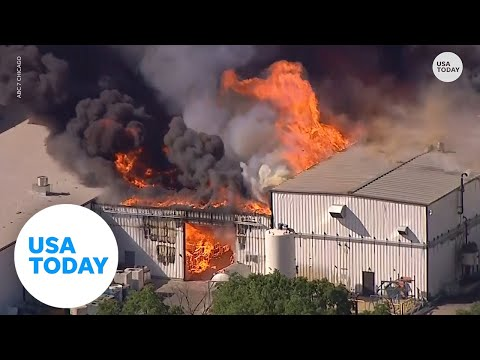 Chemical plant explosion causes multi-day long fire in Illinois   USA TODAY 1
