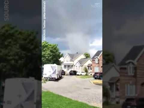 This is the tornado that has caused 'significant damage' in Quebec #shorts 3