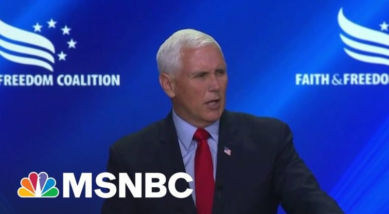 'Rock-Ribbed' Conservative Mike Pence Booed During Conference | MSNBC 1