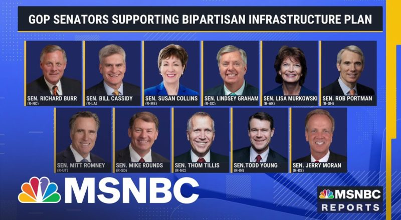 Smaller Bipartisan Infrastructure Compromise Gains Support   MSNBC 1