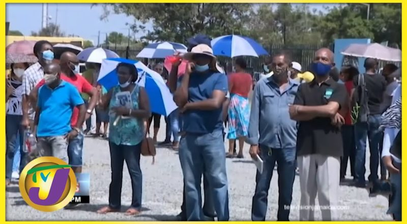 Chaos at Jamaica's Vaccination Blitz Site   TVJ News - June 19 2021 1
