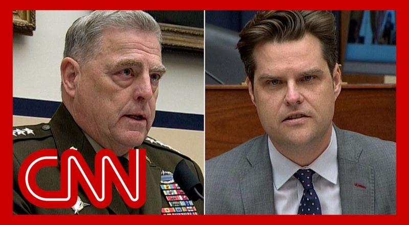 General's response to Matt Gaetz leaves him shaking his head 6