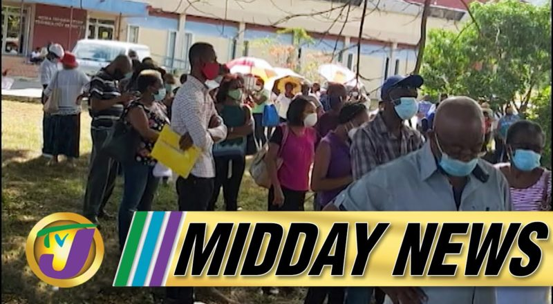Long Lines & Angry Senior Citizens at Vaccination Site in Jamaica | TVJ Midday News - June 23 2021 1