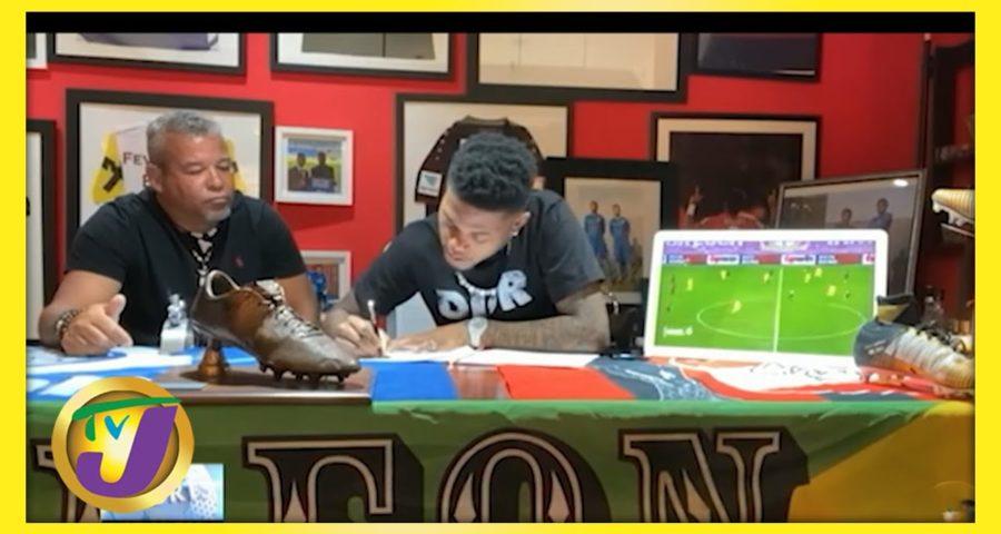 Jamaican Leon Baily Signs Reggae Boyz Contract - June 1 2021 1