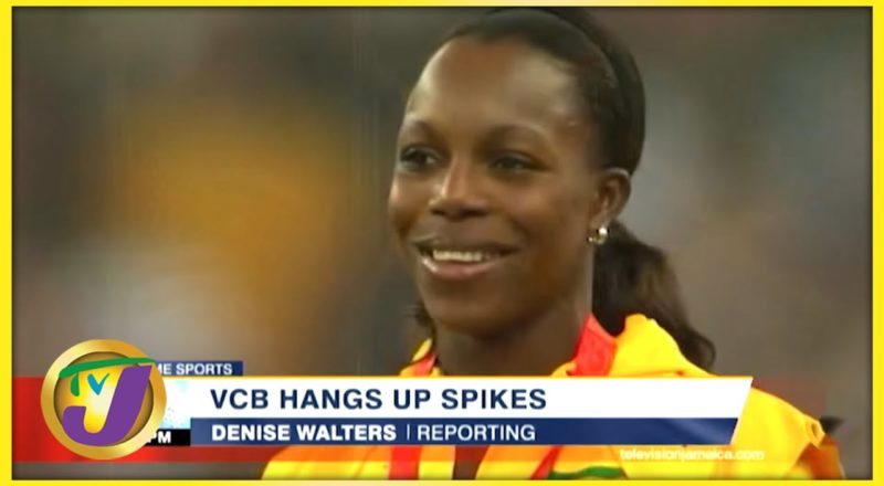Jamaica's Sprinter Veronica Campbell-Brown Hang up Spikes 1