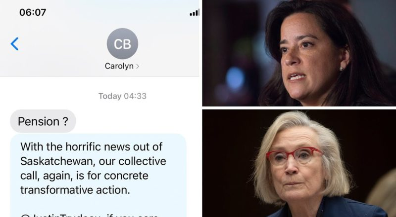 Wilson-Raybould: Bennett's text is part of 'pattern of behaviour' from Trudeau government 1