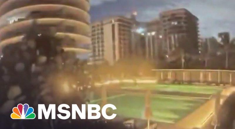 Watch: Florida Building Collapse Caught On Surveillance Video   MSNBC 1