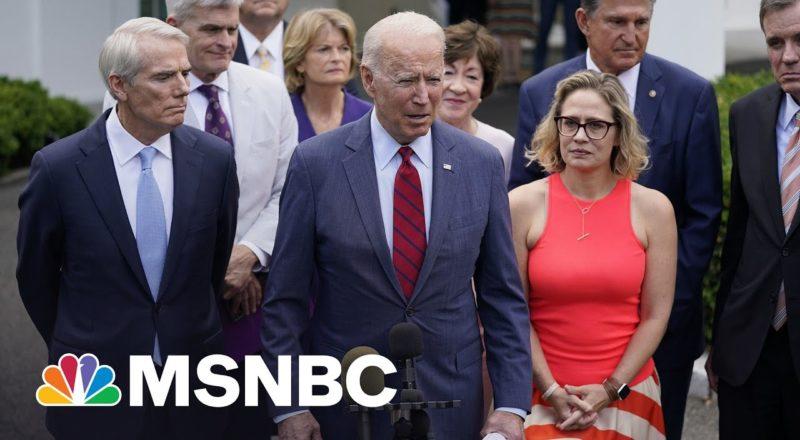 Biden Meets With Bipartisan Senators On Infrastructure Plan 1