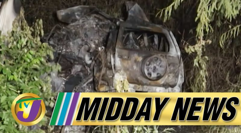 Investigation into Fiery Crash Involving Police in Jamaica   TVJ Midday News - June 25 2021 1