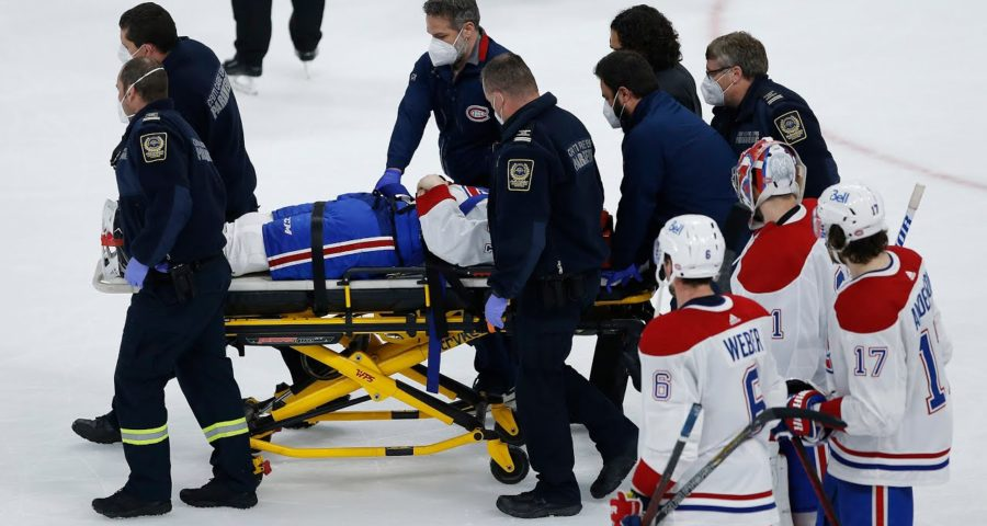 'Very dirty play': Habs' Jake Evans leaves game on stretcher after vicious hit from Mark Scheifele 1