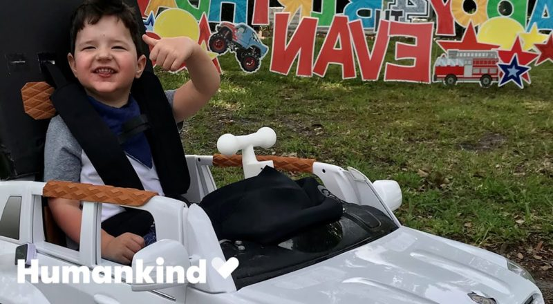 Custom car lets 4-year-old drive on his own | Humankind 2