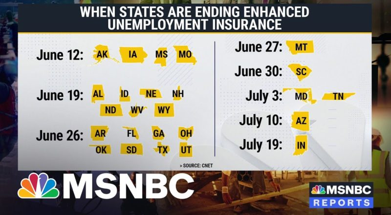 Enhanced Unemployment Benefits Ending June 12th For 25 States 4