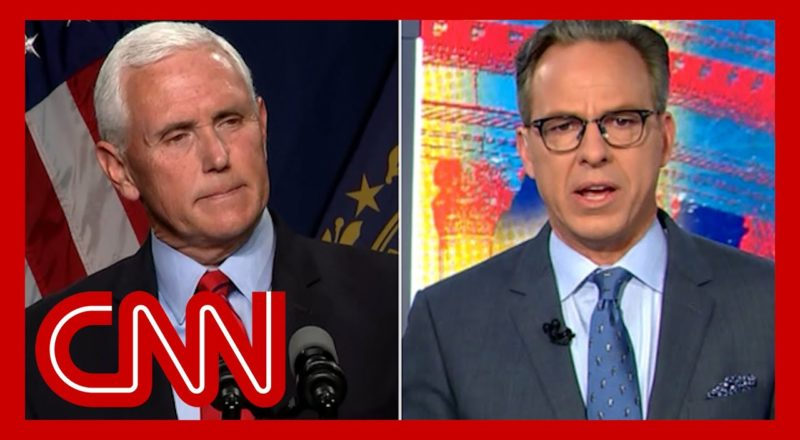 Tapper: Mike Pence is no longer in a rational world 4