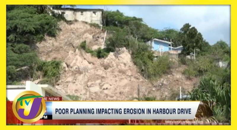 Poor Planning Impacting Erosion in Harbour Drive St. Andrew, Jamaica | TVJ News - June 5 2021 1