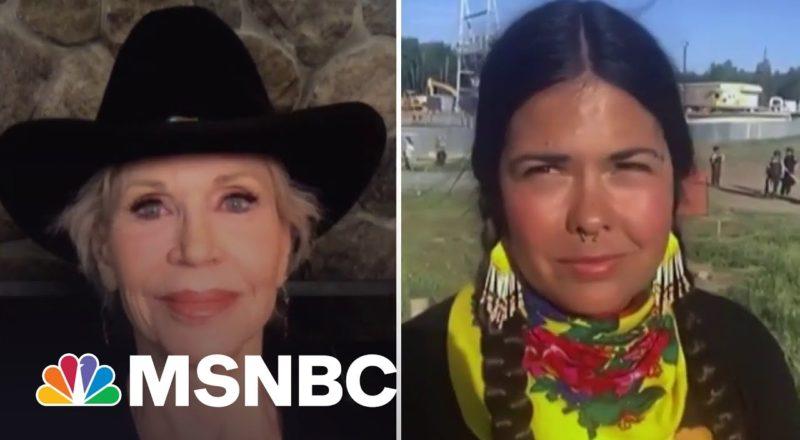 Activists Jane Fonda, Tara Houska Battle Oil Pipeline: 'This Is Theft Of Land' 9