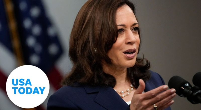 Vice President Kamala Harris takes questions after meeting with Mexican President   USA TODAY 4