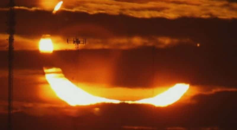 Stunning view of the 'ring of fire' solar eclipse in Canada 2
