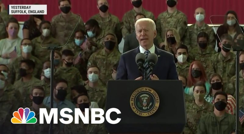Biden Begins His First Foreign Trip As Commander-In-Chief | MSNBC 1