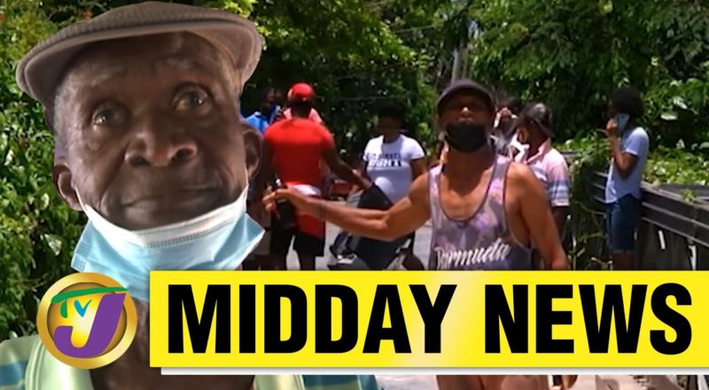 Protest in Westmoreland   Man Believed to Be Dead Shows Up   TVJ Midday News - June 11 2021 1