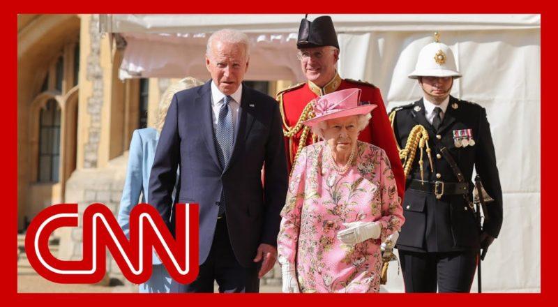 Queen Elizabeth II greets the Bidens at Windsor Castle 2
