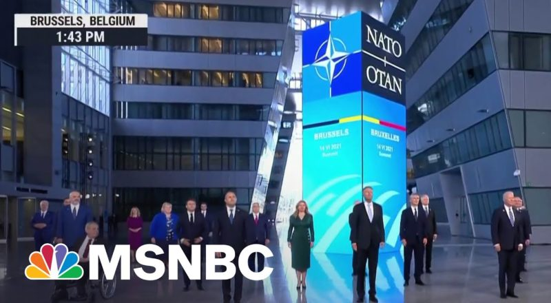 World Leaders Pose For NATO Summit Family Photo   MSNBC 1