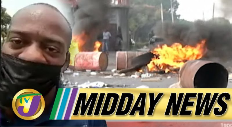 More Fiery Protests In Clarendon, Jamaica | Defiant George Wright | TVJ Midday News - June 14 2021 1