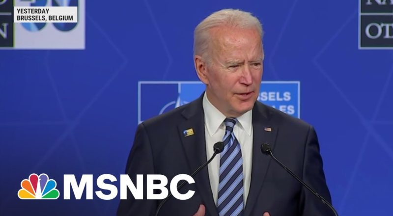 Biden Affirms Support For NATO, Reassures Allies In Wake Of January 6 7