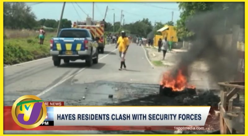 Clash with Residents & Security Forces Continue in Hayes Clarendon Jamaica | TVJ News - June 14 2021 4