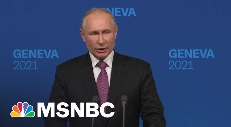 Putin: Talks With Biden Were 'Quite Constructive' | MSNBC 1