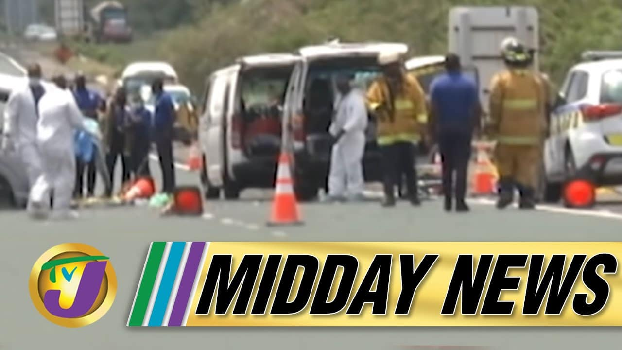 Deadly Motor Vehicle Crash | ZOSO Extended in Jamaica | TVJ Midday News - June - 16 2021 5