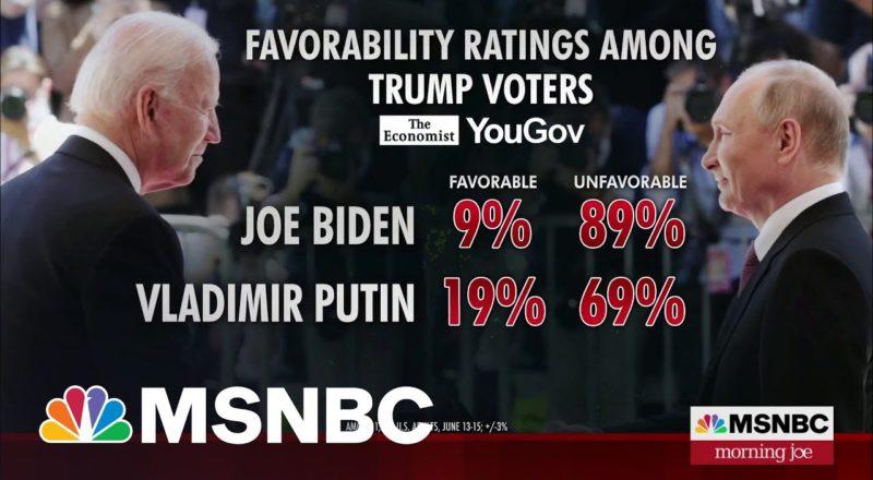 Putin Polls Higher Than Biden Among Trump Voters | MSNBC 3
