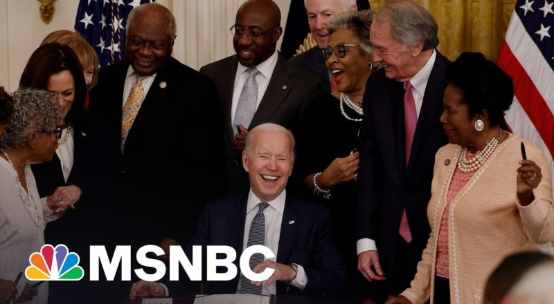 Biden Signs Legislation To Make Juneteenth A Federal Holiday 1