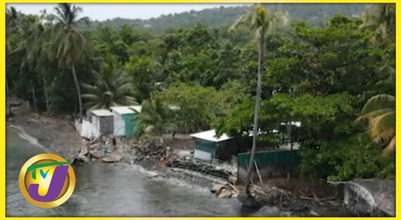 Erosion Part 1: Portland & St. Mary, Jamaica   TVJ News - June 16 2021 1