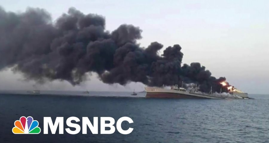 Iran's Largest Warship Sinks In Blaze In Gulf Of Oman 1