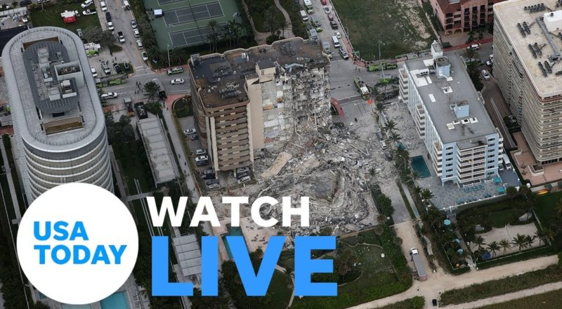 SURFSIDE CONDO COLLAPSE PRESS BRIEFING (LIVE) | USA TODAY 1