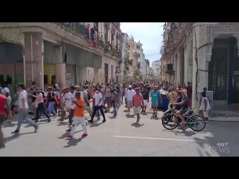 Protesters in Cuba express frustration amid economic crisis 1
