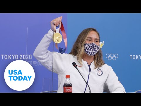Carissa Moore: Full gold medal press conference, surfing | USA TODAY 1
