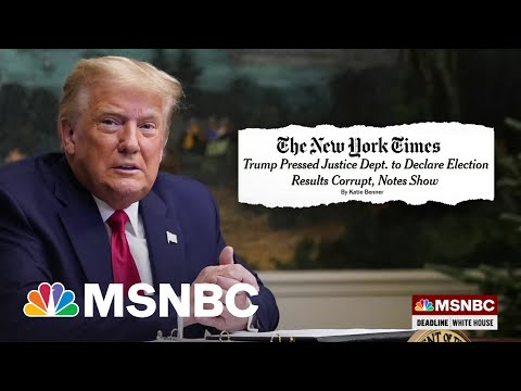 DOJ Releases Notes Showing Trump Asked To Declare The Election Corrupt 1