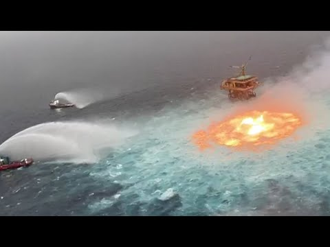 Pipeline leak causes 'eye of fire' in the Gulf of Mexico 1